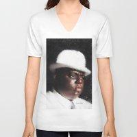 biggie smalls V-neck T-shirts featuring Biggie Smalls by André Joseph Martin