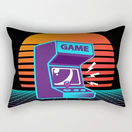 Arcade Machine Retrowave Rectangular Pillow