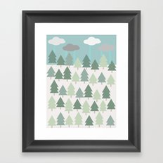 Pacific Northwest Tree and Rain Scene - Portland, PDX, Seattle, Washington, Oregon Framed Art Print