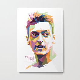 Mesut Ozil WPAP 1 Metal Print