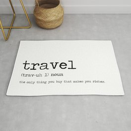 Travel by definition Rug