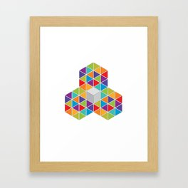 Abstract Triangle 1 Framed Art Print