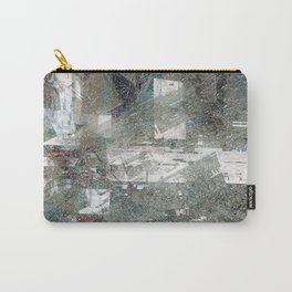 Abstract paint weathered chaotic wall texture material surface colorful digital illustration backgro Carry-All Pouch