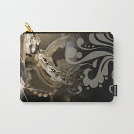 Sparkly Chandelier & Damask Carry-All Pouch