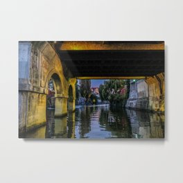 Llubljana Slovenia River at Night Metal Print