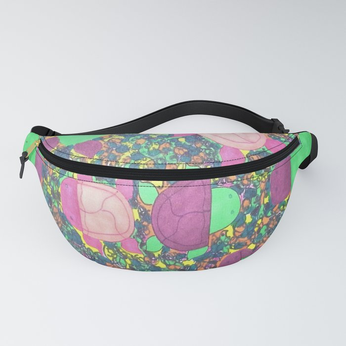 Turtles on Rainbow Rocks Fanny Pack