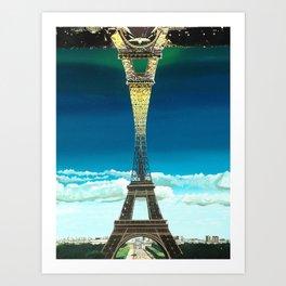 Paris Night and Day (print) Art Print