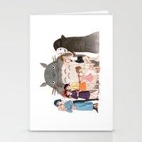 hayao miyazaki Stationery Cards featuring Hayao Miyazaki's Family by Naineuh