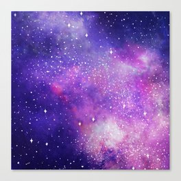 Space Nebula Galaxy Stars Canvas Print