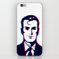 no face iPhone & iPod Skins featuring face by radiozimbra