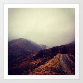 Roads: Onward Fog Art Print