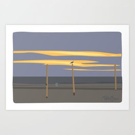 Beach volleyball poles Art Print