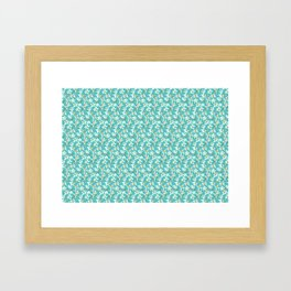 Citrus blooming tiny flowers in a sky blue backgrund Framed Art Print