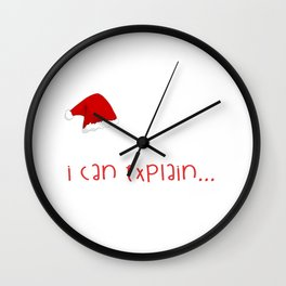 Dear Santa I Can Explain - Christmas Wall Clock