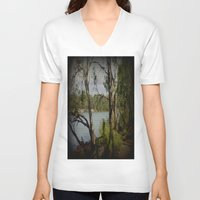 murray V-neck T-shirts featuring The Mighty Murray River by Chris' Landscape Images & Designs