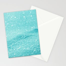 Glitter Turquoise Stationery Cards