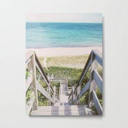 Nantucket Steps to Beach  Metal Print