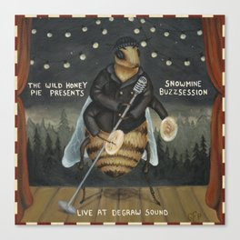 Snowmine Buzzsession Cover Art Canvas Print