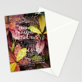 Wisdom  |  James 3:17-18 Stationery Cards