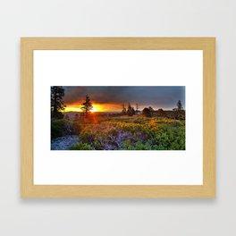 Sunrise Scenic Landscape Framed Art Print