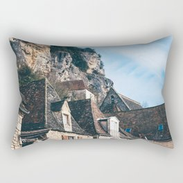 Homes of La Roque-Gageac Rectangular Pillow