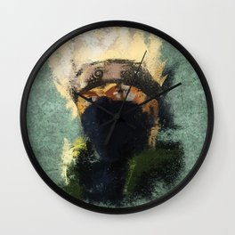 Grunge Copy Ninja Wall Clock