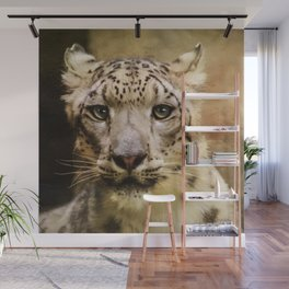 Hope For Tomorrow - Snow Leopard Art Wall Mural