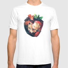 Organic | Collage White MEDIUM Mens Fitted Tee