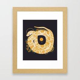 Familiar - Burmese Python Framed Art Print
