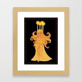 Christmas Cards - Lucia Framed Art Print