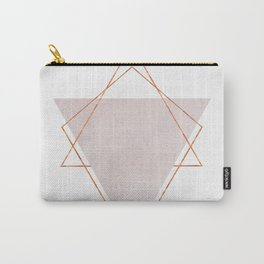BLUSH COPPER ROSE GOLD GEOMETRIC SYNDROME II Carry-All Pouch