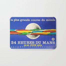 24hs Le Mans, 1974, original vintage poster Bath Mat