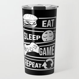 Eat Sleep Game Repeat | Video Game Console Gaming Travel Mug