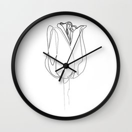 """Botanical Collection"" - Tulip Flower Print Wall Clock"