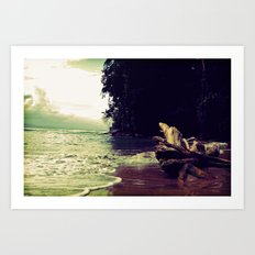 Salty Sunsest Art Print
