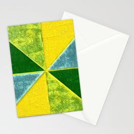 Abs Geometry lemon Stationery Cards