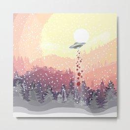 Christmas UFO Metal Print