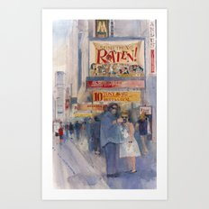 Something Rotten - Broadway Musical - Selfie - New York Theatre District  Art Print