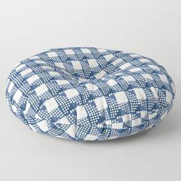 SEVILLE GINGHAM BLUE Floor Pillow
