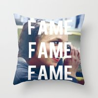 britney spears Throw Pillows featuring FAME - BRITNEY SPEARS by Beauty Killer Art