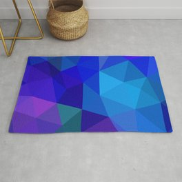 Sapphire Low Poly Rug