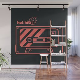 Pink Hot Hits Cassette Wall Mural
