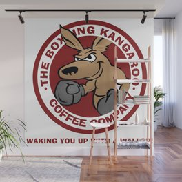 Boxing Kangaroo Coffee Company Wall Mural