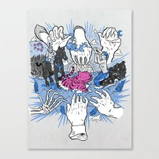 Foul Fingers Canvas Print