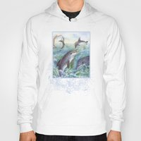 dolphins Hoodies featuring Dolphins by Natalie Berman