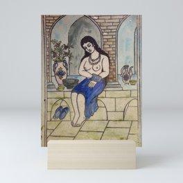 Taking Bath Tile Mini Art Print