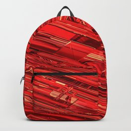 Speed Demon / Abstract 3D render of glass and metal Backpack