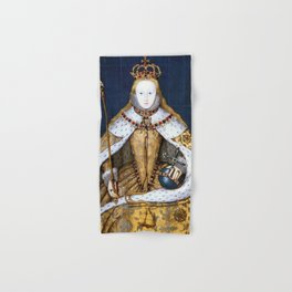 Queen Elizabeth I of England in Her Coronation Robe Hand & Bath Towel