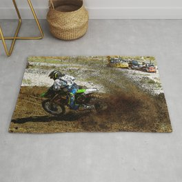 Round the Bend - Dirt-Bike Racing Rug