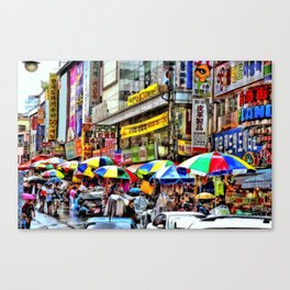 Korean Rain (Painted Version) Canvas Print